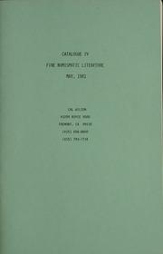 Catalogue IV Fine Numismatic Literature