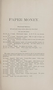 Catalogue of a $15000 Collection of Paper Money