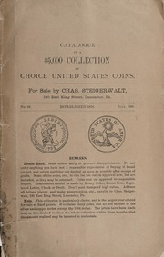 Catalogue of a $5000 Collection of Choice United States Coins