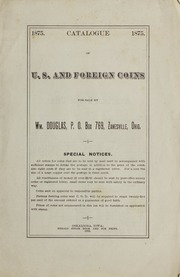 Catalogue of U.S. and Foreign Coins [Wm. Douglas]  [Fixed Price List]