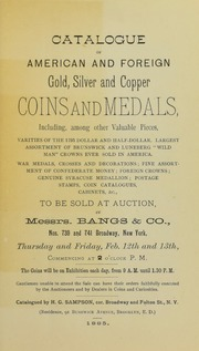 Catalogue of American and Foreign Coins