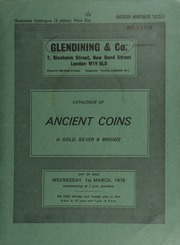 Catalogue of ancient coins, in gold, silver and bronze, [including] 18 lots of 93 3c Roman antoniniani, a fourth draw from the Dorchester hoard (1936); [also] a Lycia, Perikles stater,  ... [03/01/1978]
