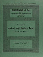 Catalogue of ancient and modern coins, in gold and silver, [including] a George II five guineas piece, 1729, young head; a collection of English regal copper coins; [as well as] a restrike in copper of the Bank of England dollar, 1804,  ... [05/30/1962]