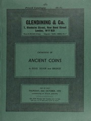 Catalogue of ancient coins, in gold, silver and bronze, [including] Greek, [containing] an interesting collection of Greek and Greek Imperial bronzes; Roman,  ... [10/26/1972]