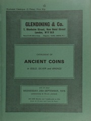 Catalogue of ancient coins, in gold, silver and bronze, [including] Greek, Roman, and Byzantine [and containing] a Eudoxia (wife of Arcadius) solidus, rev. Roma seated left; [and] a Nero aureus, rev. Jupiter seated left; [etc.] ... [09/24/1975]