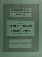 Catalogue of ancient, English and foreign coins, in gold, silver, & copper, [including] Anlgo-Saxon, Scottish, and tokens,  ... [07/20-21/1976]