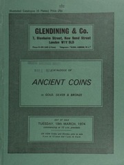 Catalogue of ancient, chiefly Roman coins, in gold, silver and bronze, [including] an Alexander III stater, helmeted head of Athena right, rev. Nike standing left, mint of Babylon; a Nero sestertius,  ... [03/19/1974]