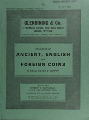 Catalogue of ancient, English and foreign coins, in gold, silver, & copper, [including] a small collection of Roman provincial silver; [and] 14 lots of Roman antoniniani from the Blackmoor Hoard (1873); [also] a Japan, Koban, Kyoho, 1716; [etc.] ... [10/17-18/1978]