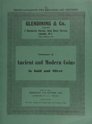 Catalogue of ancient and modern coins, in gold and silver, [including] a James I, third coinage, rose ryal of thirty shillings; a James II, five guineas piece, 1687; a George IV, pattern five pounds piece, 1826; a U.S.A. dollar, 1795,  ... [10/31/1962]