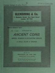Catalogue of ancient coins, [being] Greek, Roman & Byzantine issues, in gold, silver & bronze, [lots 1-335 formerly the property of Stanley Gibbons Currency, Ltd., containing a series of] didrachms of Neapolis from the Campania Hoard (1977); and other properties ... [06/09/1982]