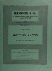 Catalogue of ancient coins, in gold, silver & bronze, including a collection of Roman coins, [containing] Republican, [such as] a Terentius Varro denarius, bust of Jupiter on Herm, rev. sceptre between eagle and dolphin;  ... [02/02/1977]