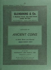 Catalogue of ancient coins, in gold, silver and bronze, [including] Greek, Roman and Byzantine, [and containing] a Eugenius solidus, diademed, draped and cuirassed bust � [03/25/1981]