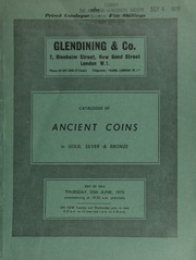 Catalogue of ancient coins, in gold, silver & bronze, [probably Part II of the extensive series, the first part of which was sold on 23 April, 1970, including] a series of Roman Empire coins, a few denarii, [as well as other] Roman coins ... [06/25/1970]
