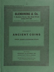 Catalogue of ancient coins, Greek, Roman and Byzantine issues, [including] a Sicily, Gela, tetradrachm, Nike driving a quadriga, above, laurel wreath, rev. head of youthful river-god, three fishes around; an Agrippina I posthumous sestertius  ... [12/04/1985]