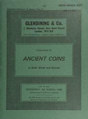 Catalogue of ancient coins, in gold, silver and bronze, [including] an Egypt, Ptolemy III gold octodrachm, jugate busts of Ptolemy II and Arsinoe II, shield behind; rev. jugate busts of Ptolemy I and Arsinoe I; [also] an Augustus denarius, head left, rev. trophy of Celtiberian arms; [etc.] ... [03/05/1980]