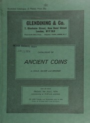 Catalogue of ancient coins, chiefly Roman and some Romano-British, in gold, silver and bronze, [including] a Didius Julianus sestertius, laureate head right, rev. Fortuna standing left, holding rudder and cornucopiae;  ... [07/05/1974]