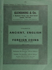 Catalogue of ancient, English and foreign coins, [including] Greek, Roman, and Byzantine gold coins, Greek silver coins, Roman Republican denarii and Imperial silver and bronze, Byzantine silver,  ... [12/06-07/1978]