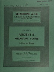 Catalogue of ancient & medieval coins, in silver and bronze, including a collection of the coinage of the Norman Mint of Salerno, A.D. 839-1193; [as well as] other medieval coins of the Crusader period;  ... [04/30/1980]