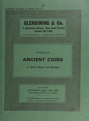 Catalogue of ancient coins, in gold, silver and bronze, [including] Greek [such as] a Sicily, Syracuse tetradrachm, quadriga galloping left; above Nike crowning a charioteer; rev. head of Arethusa left, four dolphins around;  ... [06/20/1984]