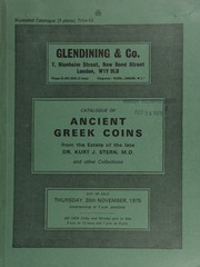 Catalogue of ancient Greek coins from the estate of Dr. Kurt J. Stern, M.D., and other collections ... [11/20/1975]