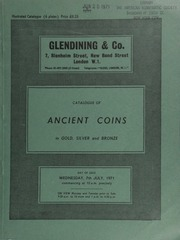 Catalogue of ancient coins, in gold, silver and bronze, including Greek, Oriental, Jewish, Roman, and Byzantine, [and containing] a Lucania, Thurium, distater, head of Athena, scylla adorning helmet, griffin running; rev. bull charging;  ... [07/07/1971]