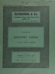 Catalogue of ancient coins, in gold, silver and bronze, [including] Greek, Ancient Jewish and Palestinian coins, denarii of the Roman Republic, Imperiatorial issues, Roman Empire, Byzantine coins from the Mint of Constantinople, [etc.] ... [03/05/1970]