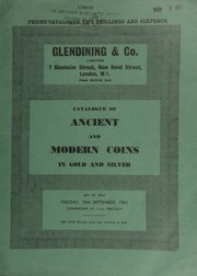 Catalogue of ancient and modern coins, in gold and silver, [including] a Canada, George V sovereign, 1911; [and] Corinth and colonies staters, c. 540-430 B.C., of archaic style; [as well as] numismatic books, the property of [two] collector[s] ... [09/19/1961]