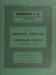 Catalogue of ancient, English and foreign coins, in gold, silver, & copper [including] a Danubian Celts tetradrachm, in imitation of Philip II of Macedon, head of Zeus, rev. boy rider on horseback;  ... [07/10/1985]