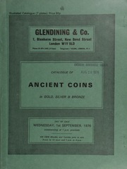Catalogue of ancient coins, in gold, silver and bronze, [including] a Thrace, Abdera, tetradracm, griffin recumbent left, rev. head of Apollo right; [as well as] Roman bronze,  ... [09/01/1976]