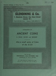 Catalogue of ancient coins, in gold, silver, and bronze, [including especially] Greek, Roman, and Byzantine gold, [and] Roman Republican silver, also a small series of coins of the U.S.A. ... [10/22/1969]