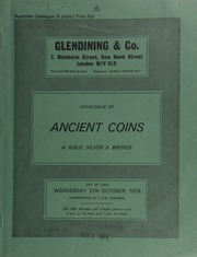 Catalogue of ancient coins, in gold, silver and bronze, [including] a Tiberius aureus, laureate head of emperor; rev. Livia seated; a Nicephorus II histamenon, bust of Christ facing,  ... [10/27/1976]