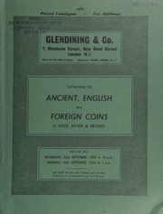 Catalogue of ancient, English and foreign coins, in gold, silver, & bronze, [including] Greek, Roman, Parthian, Byzantine, Anglo-Saxon, Scottish, etc. [as well as] English pennies from Sir John Evans and the 'Sweden' hoard;  ... [09/23-24/1970]