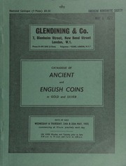 Catalogue of ancient and English coins, in gold and silver, [such as] a Hostilian (A.D. 251) sestertius, laureate, draped and cuirassed bust right;  ... [05/24-25/1972]