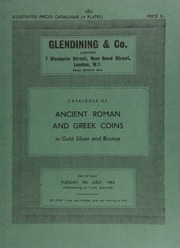 Catalogue of Ancient Roman and Greek coins, in gold, silver and bronze, [also] Egyptian cistophori, and Jewish coins ... [07/09/1963]