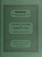 Catalogue of ancient, English and foreign coins, [including] a fourth portion of coins from the Gibraltar Hoard; a Marcus Aurelius aureus of Rome, laureate, draped bust, rev. Armenian captive seated in mourning,  ... [10/29/1986]