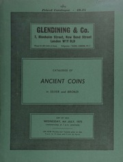 Catalogue of ancient coins, in silver and bronze, [including] Roman Republic and Empire, [such as] an Octavian and Lepidus denarius, head of Octavian, rev. head of Lepidus; Greek,  ... [07/04/1973]