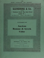 Catalogue of Ancient Roman & Greek coins, [including] Roman Republican bronze; [as well as] Palestinian City coins, from the Rothschild collection, [and] coins of the Jews ... [03/10/1965]