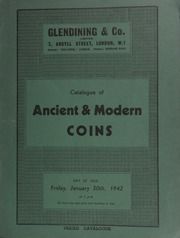 Catalogue of ancient & modern coins, [including] an English sovereign of 1553, with pomegranate, very fine and extremely rare; [and] a collection of Masonic jewels; [etc.] [01/30/1942]