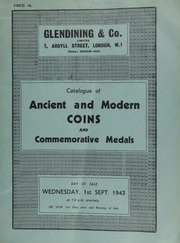 Catalogue of ancient and modern coins, and commemorative medals, including a silver medal of the Loyal Association, 1745, by T. Pingo ... [09/01/1943]