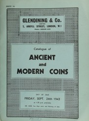 Catalogue of ancient and modern coins, the property of F.C. Stuart, Esq., including crowns, half-crowns, shillings, [and] sixpences, and also containing a James II five guineas piece, 1687; and a George III two pounds piece, 1823; [etc.] ... [09/24/1943]