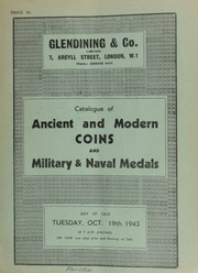 Catalogue of ancient and modern coins, including English coins, the property of H. Lowe, Esq.; [and also containing] a very fine medal commemorating the Centenary of the Independence of Argentina, 1810-1910, by J. Cottuzzoy; and military & naval medals ... [10/19/1943]
