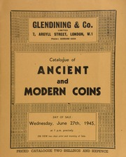 Catalogue of ancient and modern coins, including a collection of English coins, the property of a lady; [as well as] late Roman fourth century coins, from the Southsea Find, ... [06/27/1945]