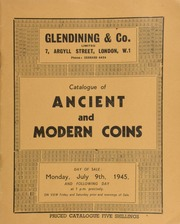 Catalogue of ancient and modern coins, including a choice collection of English crowns, the collection of H.O. Elgie, Esq., of Leeds; [and] the property of David Calder, Esq., Birkall, Holywood, Dumfries; [as well as] Scottish Communion tokens; [etc.] ... [07/09/1945]