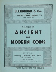 Catalogue of ancient and modern coins, [including] the property of the late Charles Orrell, Esq.; [and also containing] the famous De Longueville collection of Chinese copper coins; [etc.] ... [10/08/1945]
