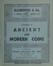 Catalogue of ancient and modern coins, including the collection of English coins formed by the late P.C. Peek, Esq.; the property of Miss S. Tremearne, Woodlands St. Agnes, Cornwall; the property of a[nother] collector;  ... [11/06/1945]