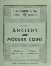 Catalogue of ancient and modern coins, [both] British and foreign, including seige coins of Charles I & Charles II; ... Roman antoniniani from the Dorchester hoard; [as well as] Annam, Tu Duc 1847-1883, with Chinese inscription; [and] Persia, Naris ed Din, 10 Tomans; [etc.] ... [01/28-291946].