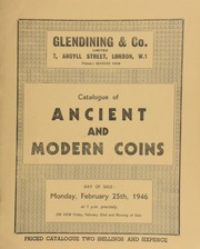 Catalogue of ancient and modern coins, [including] the collection of C. T. Tower, Esq., [sold] by order of the executors, [containing] the Nobel medal in gold, by Erik Lindberg, with bust of Alfred Nobel;  ... [02/25/1946]