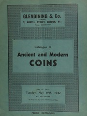 Catalogue of ancient and modern coins, a portion [being] for sale on behalf of Mrs. Winston Churchill's Aid to Russia fund, including a large gold medal presented in commemoration of the Coronation of Nicholas II as Czar;  ... [05/19/1942]