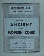 Catalogue of ancient and modern coins, [including the contents of] a cabinet of a Scottish collector; [as well as] the collection of the late F.G. Learoyd, Esq.; ... [05/21/1946]