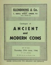 Catalogue of ancient and modern coins, including the collection of the late H.A.T. Packford, Esq., of Oxford; [containing] a gold medal for the Society for the Promotion of Arts and Commerce, instituted 1753; [as well as] the property of a lady; ... [06/27/1946]